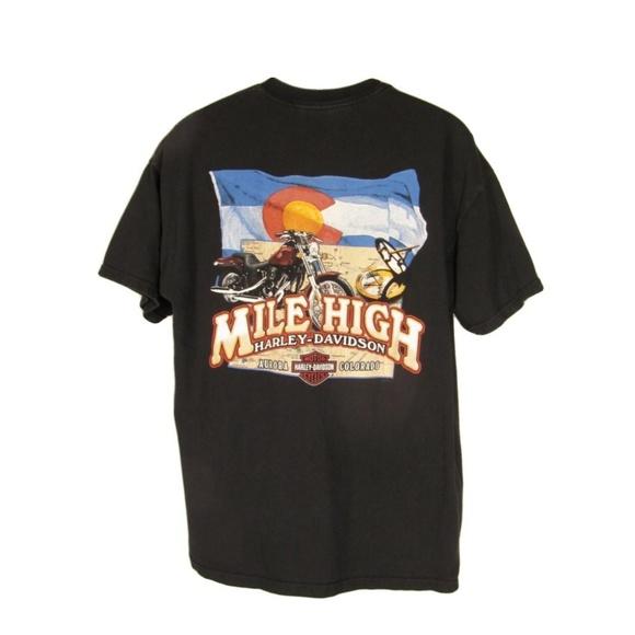 Harley Davidson Colorado >> Mile High Harley Davidson Shirt Xl Black Colorado
